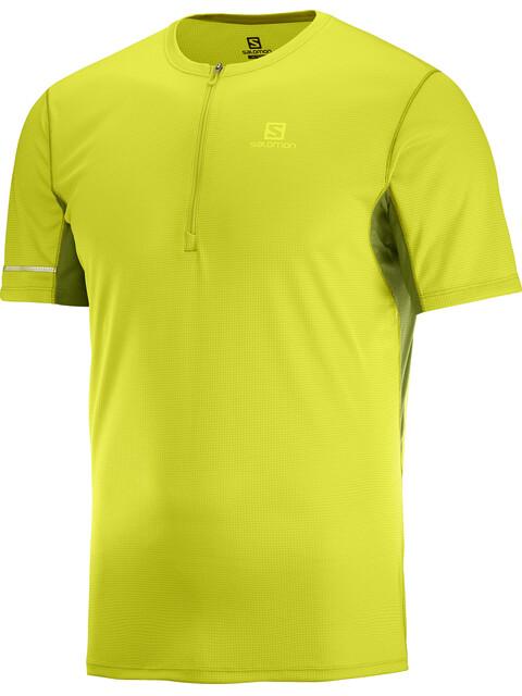 Salomon Agile - Camiseta Running Hombre - amarillo